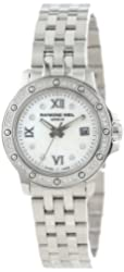 Raymond Weil Women's 5399-STS-00995 Tango Stainless Steel Mother-Of-Pearl Diamond Bezel and Dial Watch