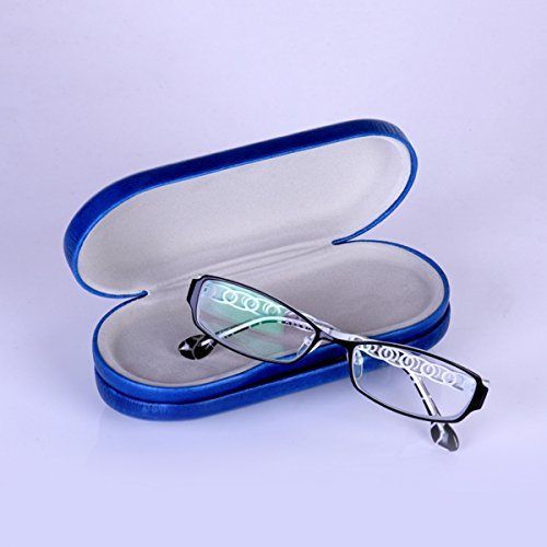 ROSENICE Portable 2-in-1 Eyeglass and Contact Lens Hard Case for Home Travel Kit (blue) by ROSENICE (Image #2)