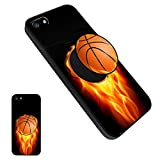 iPhone 5/5S/SE Basketball Case, Personalized Soft TPU Rubber Gel [Anti Scratch] Cover Case with Pop Mount Stand [Shock Absorption] for iPhone 5/5S/SE - Basketball05