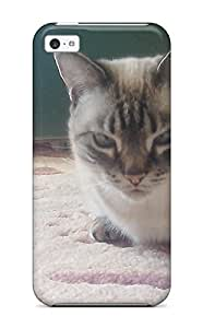 1238683K28478997 Case For Iphone 5c With Nice Munchkin Cats Appearance