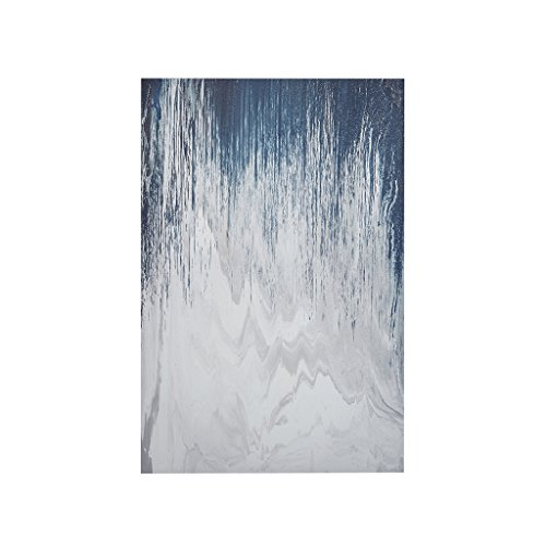 Ink+Ivy II95C-0069 Abstracted Chevron Navy Canvas with Heavy Gel Coat 24x36x1.5 Blue, 24 x 36 x 1.5, (Navy Blue Abstract Art)