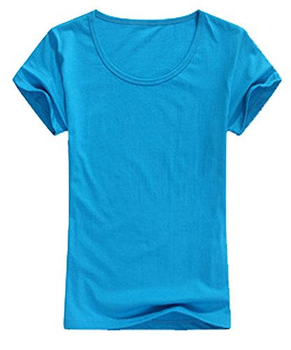 AM CLOTHES Girls Solid Color All Match Basic T-shirt Bubble Sleeves One Size