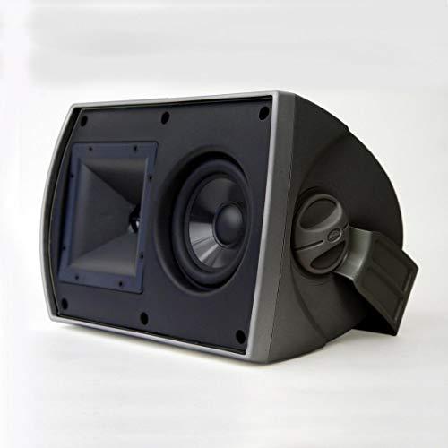 "Klipsch 5-1/4"" 2-Way All-Weather Outdoor Speakers (Pair) Black AW525 BLACK"
