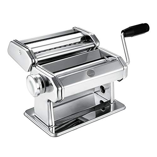 Hello Cucina Manual Pasta Maker Machine with Handle and Hand Crank - 9 Adjustable Thickness
