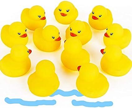 Flotar y Pitar Patito de Goma Juguete para Ba/ñera Ba/ño del Beb/é Pato de Goma para Ni/ños Novelty Place 12 Unidades