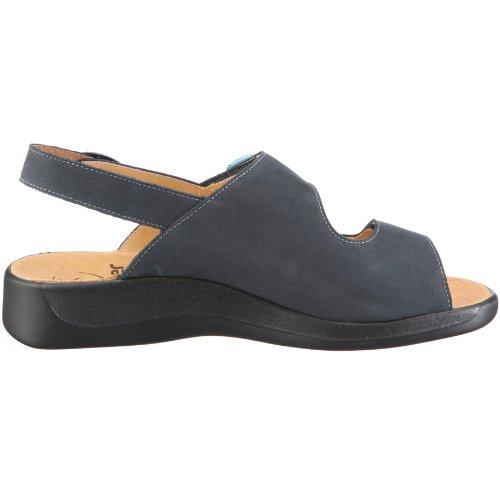 Ganter Monica, Weite G 1-202562-3500 - Sandalias de vestir de cuero nobuck para mujer Azul