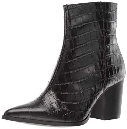 Jaggar Women's Grounded Animal Skin Chunky Heel Ankle Boot, Black, 36 Regular EU (5 US)