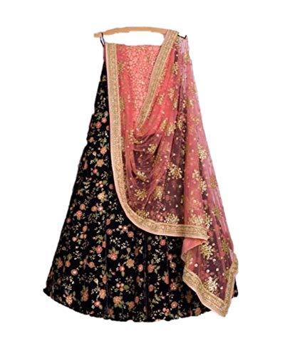 Indian Lehenga Choli with blouse traditional Designer wedding party wear choli