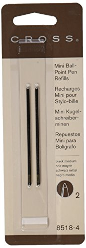 Cross Mini Ball-Point Refills, Black, 12 (Ballpoint Mini Pen)