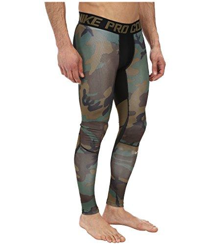 c6d44fb79df8c NIKE Men's Pro Combat Hypercool Compression Woodland Tight Iguana/Black/ Iguana/Grain Pants