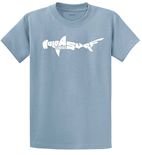 Joe's USA Koloa Surf Co.(tm) Hammerhead Shark T-Shirts Youth XS Stonewashed Blue by Joe's USA
