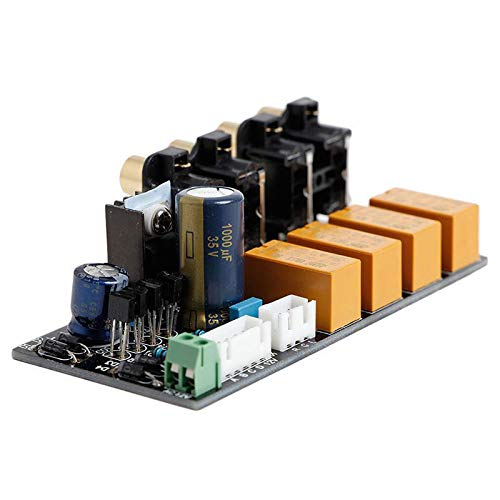 SODIAL Audio Switch Input lection Board RCA 4 Way Audio Signal Relay lector Switching Board Lotus at For Amplifier Chassis
