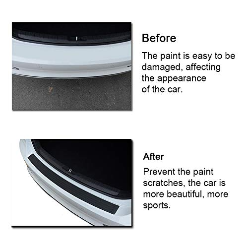 35.8Inch AUTOYU Rear Bumper Protector Guard Universal Black Rubber Scratch-Resistant Trunk Door Entry Guards Accessory Trim Cover for SUV//Cars