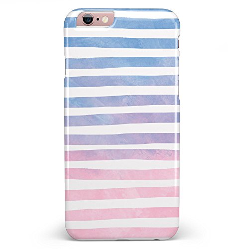Pink to Blue WaterColor Ombre Stripes iPhone 6 or 6s - 4.7