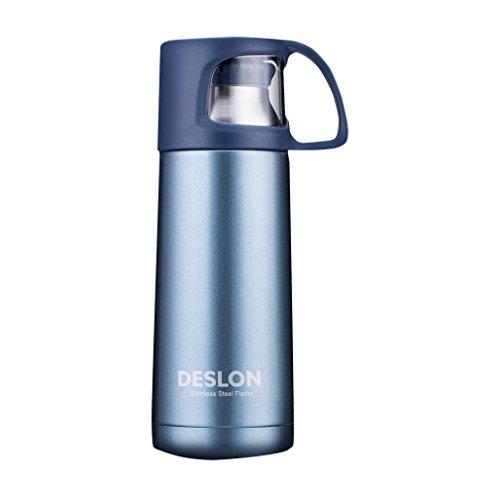 DESLON Stainless Steel Travel Bottles, Water Bottle for Girls Kids Men Insulated Camping Mug with Lid for Sport