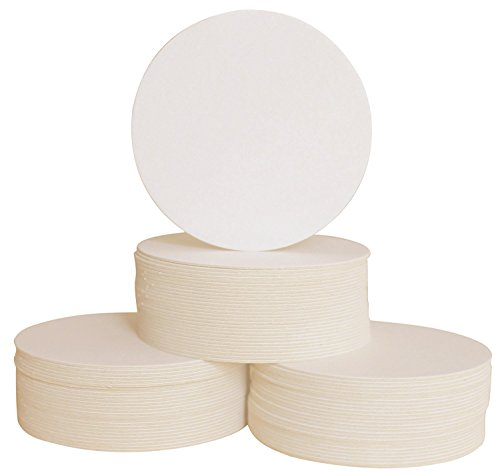 (125 Round Bar Coasters for Drinks and DIY Crafts, 4 Inch, Mid-Weight made of Recycled Material)