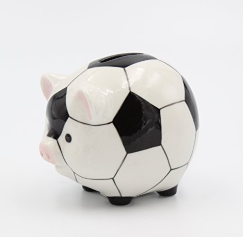 (Cosmos Gifts 20961 Porcelain Soccer Piggy Bank 3 5/8