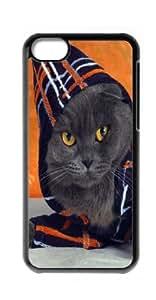 HeartCase Hard Case for Apple iPhone 5C ( Black Cat Kitty )
