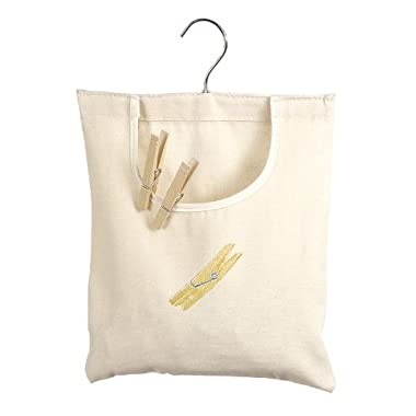 Whitmor 6462-789 Canvas Clothespin Bag