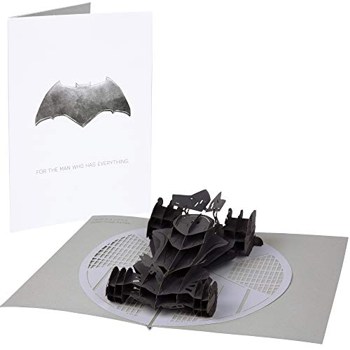 DC Comics Batman Batmobile Pop-Up Card - Deluxe Handcrafted Pop Up Card - For the Man Who Has Everything - Blank Inside - 5 x 7 inches (Оne Расk) (Batman Card Birthday)