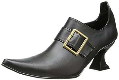 Ellie Shoes Women's 301 Hazel Witch Shoe, Black Polyurethane, 6 M US