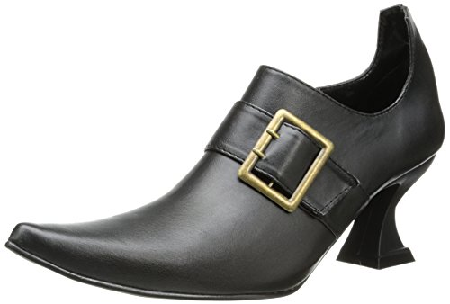 Ellie Shoes Women's 301 Hazel Witch Shoe, Black Polyurethane, 7 M US ()