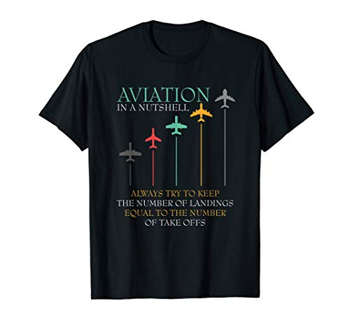 Funny Pilot Aviation In A Nutshell Gift