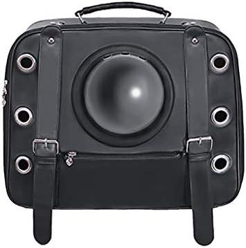 JIANXIN ペットのバックパック、ペット用ケージ、ペットキャリア、車のキャットバッグ、ペットの旅行に適し、小型犬や猫のために適している(ブラック)