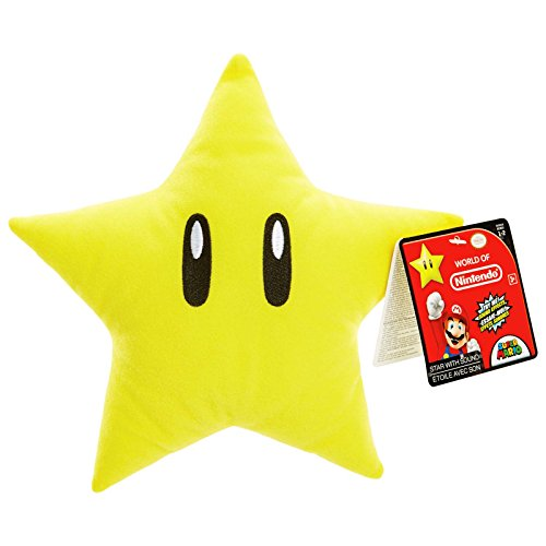 World Of Nintendo Super Mario Star With Sound 8 Inch Plush Figure (Figure Star Plush)