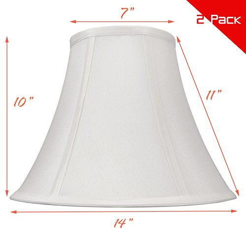 White Bell Hand Made Fabric Lampshade, 7