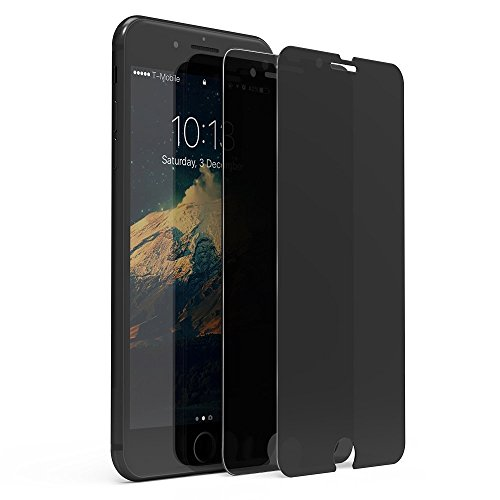 Case Mirror Screen Protector - [2 Pack] iPhone 7 Plus Privacy Screen Protector, GPROVA Anti-Spy [Anti-Fingerprint] Tempered Glass Premium HD 2.5D Curve Edge, Easy Install For iPhone 7 Plus (black)