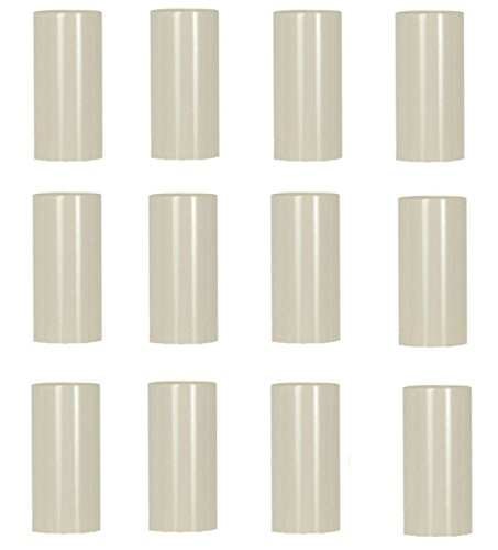 Creative Hobbies 2 Inch Tall Cream Plastic Candle Covers Sleeves Chandelier Socket Covers - Pack of 12 - Slip Over E12 Candelabra Base Sockets