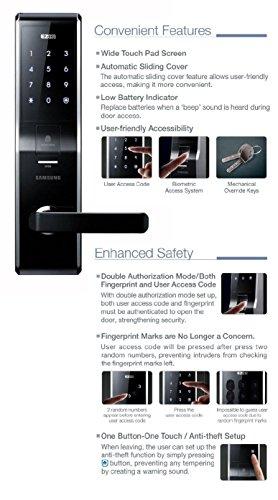 Samsung Fingerprint Digital Door Lock Shs H705fmk Aml 220