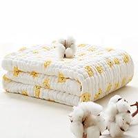 Lucear Muslin Baby Bath Towels Lovely Print Also Warm for Blanket (Orange)