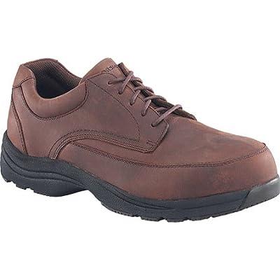 Florsheim Mens Leather Composite Toe Casual Moc Toe Oxford # FE2140 (7.5 D(M)) Brown | Oxfords