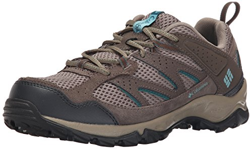 Columbia Women's Plains Ridge Wmns Trail Shoe, Pebble/Aqua, 5 B US
