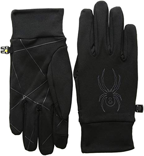 Spyder Men's Solace Stretch Fleece Glove, Black/Black, Large