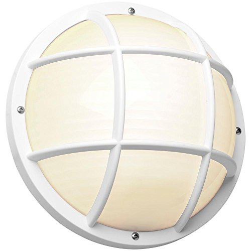 Newport Coastal 10.25 in. White Outdoor Incandescent Nautical (Large White Oval Exterior Light)