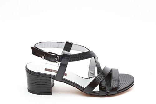 L amour sandali in pelle tacco 5 nero