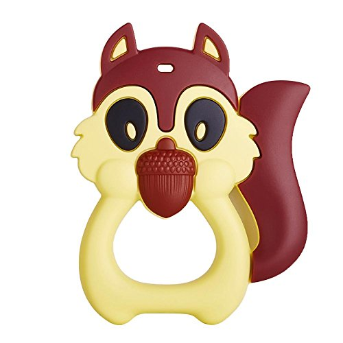 Chinatera Baby Silicone Teether Cute Squirrel Shape of Charm Gift