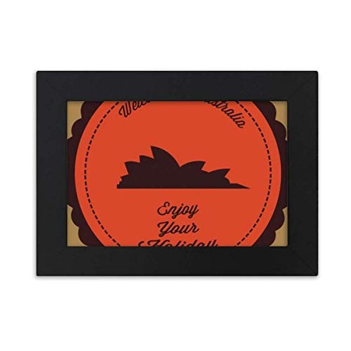 (DIYthinker Australia Flavor City Sydney Opera House Desktop Photo Frame Black Picture Art Painting 5x7 inch)