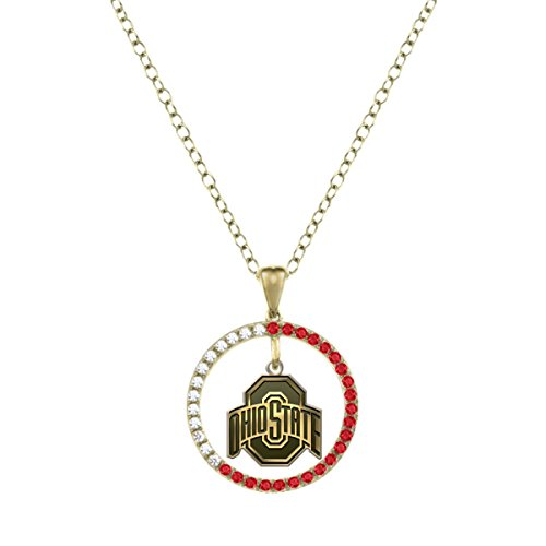 Ohio State University Buckeyes Ruby and Diamond Charm Necklace - 14KT Gold