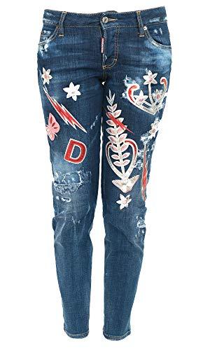 Donna Blu Jeans Dsquared2 S72la0963s30342470 Cotone ZFx5wqffA0