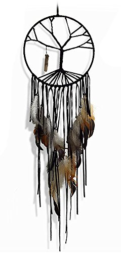 Dream Catcher Decor, Marsway Life Tress India Style Dreamcatcher With Feather Wall Hanging Hanging Ornament Craft Gift Black 2 by Marsway