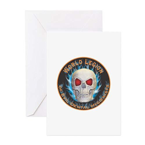 CafePress Legion Of Evil Dental Hygienists Greeting Card, Note Card, Birthday Card, Blank Inside Glossy