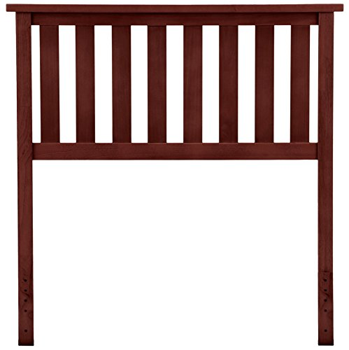Belmont Wooden Headboard Panel with Slatted Grill Design, Merlot Finish, Twin (Merlot Panel Bed)