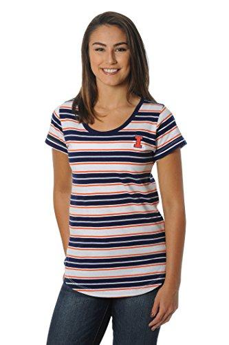 Illinois Tailgate Golf (NCAA Illinois Illini Women's Tailgate Tee, Medium, Navy/Orange)