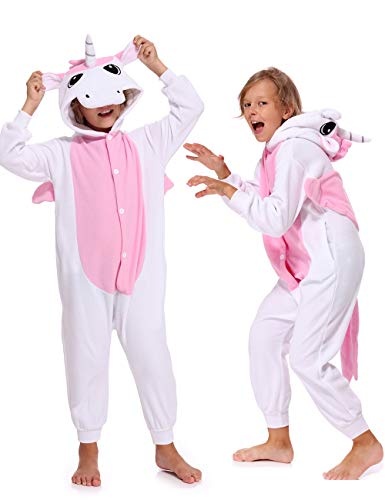 Kids Unisex Unicorn Sleepsuit Cosplay Pajamas Costume Cute Unicorn Onesies for Boys Girls -