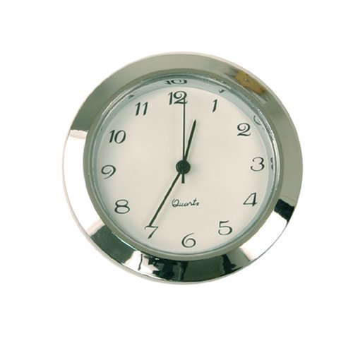 Mini Clock Quartz Movement Insert Round 1 7/16