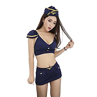 Amazon.com: Mujer sexy Lingerie Cosplay agente de policía ...